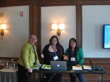 Jill Baird, Francine Cunningham, Naomi Sawada giving their presentation.